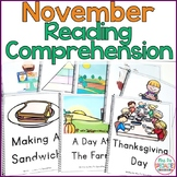 Reading Comprehension Books With Visual Choices November Set (Special Education)