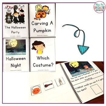 Reading Comprehension Books With Visual Choices {October Set}