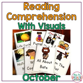Reading Comprehension Books With Picture & Visual Choices {October Set}
