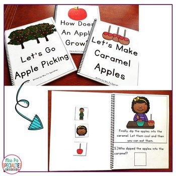 Reading Comprehension Books With Picture & Visual Choices {September Set}