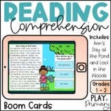 Reading Comprehension Boom Cards™ | Ann's Day at the Pond | Lost in the Woods