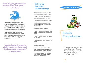 Reading Comprehension Brochure for Parents