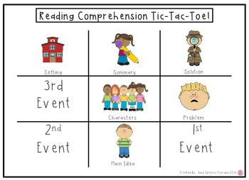 Reading Comprehension Bubbles & Tic Tac Toe Mats!