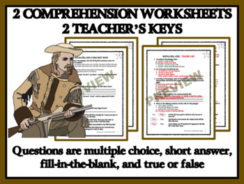 Reading Comprehension - Buffalo Bill Cody