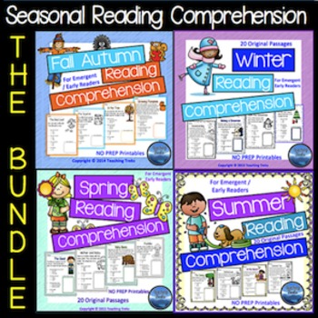 Reading Comprehension Worksheets: Seasons