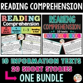 Reading Comprehension Passages and Questions 2nd grade - BUNDLE