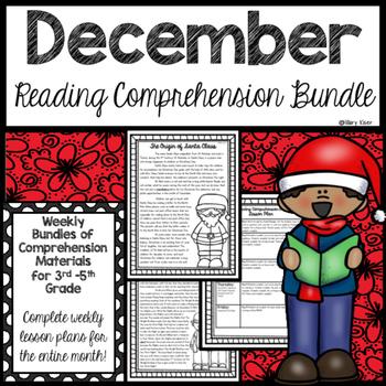 Reading Comprehension Bundle (December)