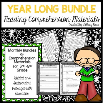 Reading Comprehension Materials (YEAR LONG BUNDLE)