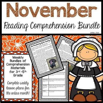 Reading Comprehension Bundle (November)
