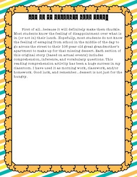 Reading Comprehension Bundle - (Original Fiction CCSS aligned)