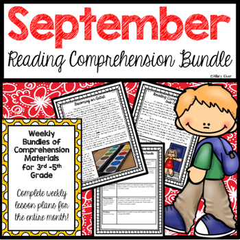 Reading Comprehension Bundle (September)