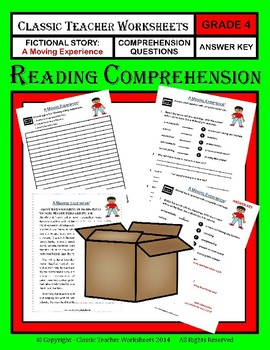 Reading Comprehension Bundle - Set 1 - 4th Grade (Grade 4)