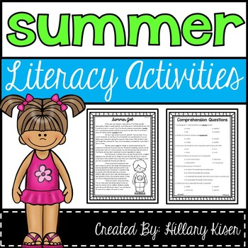 Literacy Activities (Summer)
