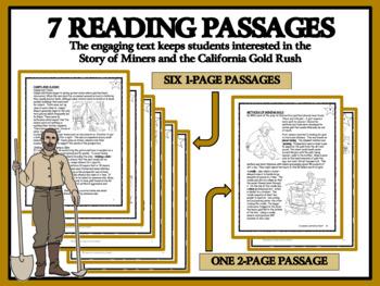 BUNDLE READING COMPREHENSION - California Gold Rush