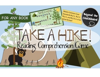 Reading Comprehension Camping Themed Game - Common Core Aligned for 2nd Grade