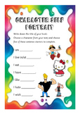 Reading Comprehension Card - Character Self Portrait
