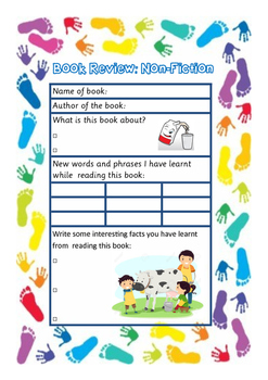 Reading Comprehension Card - Non Fiction Book Review