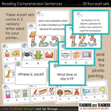 Reading Comprehension Card Sets (with super-cute graphics)