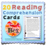 Reading Comprehension Cards - 20 Stories