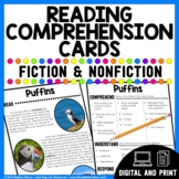 Reading Comprehension Cards - Fiction and Nonfiction | Dis