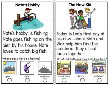 Reading Comprehension Cards SPRING