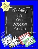 Reading Comprehension Cards ~ Mission Cards!
