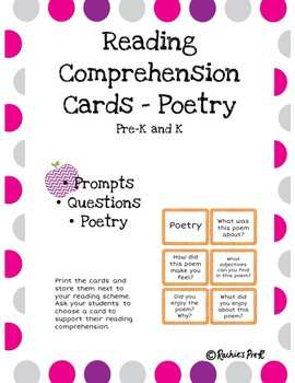 Reading Comprehension Cards Poetry