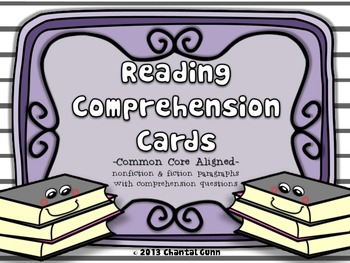 Reading Comprehension Cards and Questions
