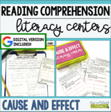 Reading Comprehension Literacy Center: Cause and Effect