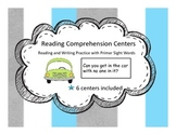 Reading Comprehension Centers Using Primer Sight Words(Writing Component)