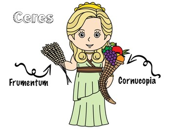 Easy Latin Worksheet: Ceres et Proserpina