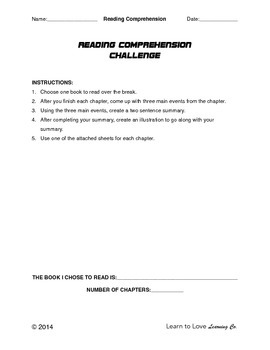 Reading Comprehension Challenge