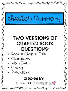 Reading Comprehension Chapter Summary