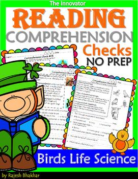 Reading Comprehension Checks – Birds Life Science.
