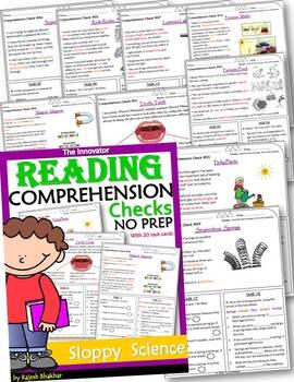 Reading Comprehension Checks - The Bundle -1