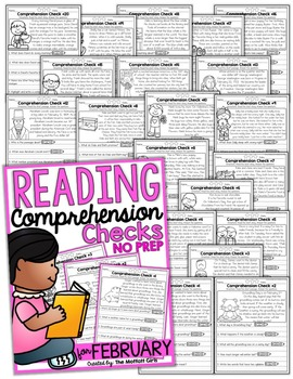 Reading Comprehension Checks for February (NO PREP)