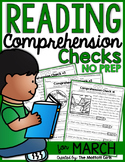 Reading Comprehension Checks for March (NO PREP)