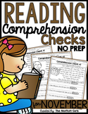 Reading Comprehension Checks for November (NO PREP)