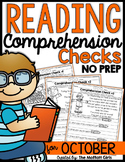 Reading Comprehension Checks for October (NO PREP)