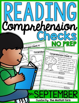 Reading Comprehension Checks for September (NO PREP)