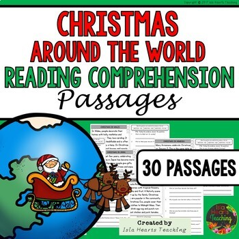 Christmas Reading Comprehension Passages & Questions: Christmas Around the World