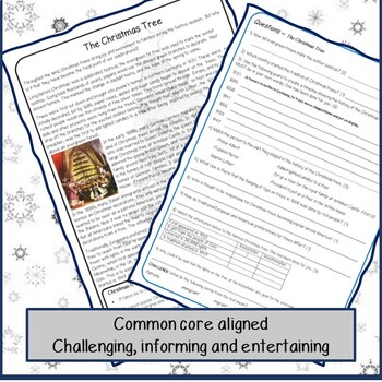 Reading Comprehension - Christmas Trees