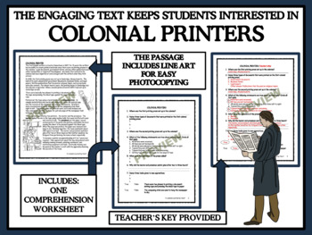 Colonial Printers - Reading Comprehension