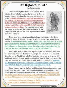 Close Reading Comprehension Color-Coding Text Evidence BUNDLE  Grades 3-6