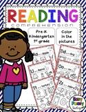Reading Comprehension - Color in the Picture (NO PREP)