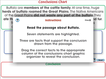 Reading Comprehension: Conclusions Chart - NOTEBOOK Gr. 5-8