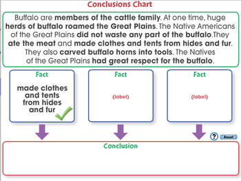 Reading Comprehension: Conclusions Chart - PC Gr. 5-8