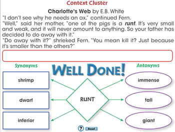 Reading Comprehension: Context Cluster - PC Gr. 5-8