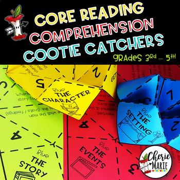 Reading Comprehension Cootie Catchers RL3.2 RL3.3 RL4.2 RL4.3