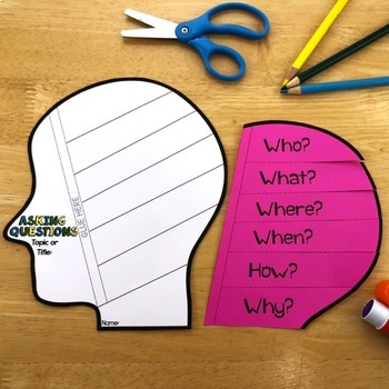 Reading Comprehension Crafts: Asking Questions Activity for Reading Response